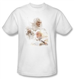 The Lord Of The Rings T-Shirt Gandalf The White Adult White Tee Shirt