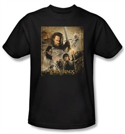 Lord Of The Rings T-Shirt Return Of King Movie Poster Tee
