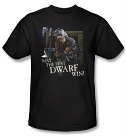 The Lord Of The Rings T-Shirt The Best Dwarf Adult Black Tee Shirt