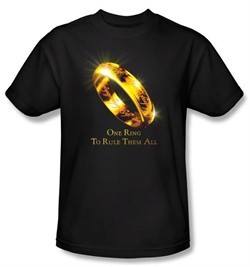 The Lord Of The Rings Kids T-Shirt One Ring Black Tee Youth