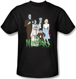 The Munsters Kids T-shirt The Family Youth Black Tee Shirt
