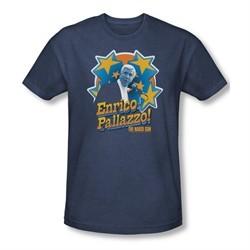 The Naked Gun Shirt Its Enrico Pallazzo Adult Heather Navy Tee T-Shirt