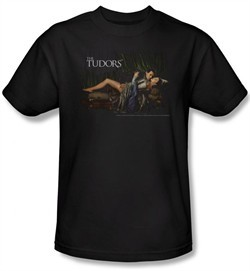 The Tudors Shirt The King And His Queen Adult Black T-Shirt Tee