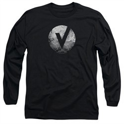 The Vamps Long Sleeve Shirt V Emblem Black Tee T-Shirt