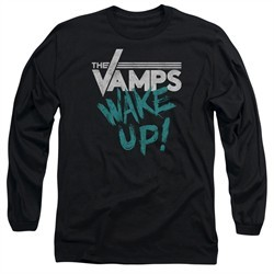 The Vamps Long Sleeve Shirt Wake Up Black Tee T-Shirt