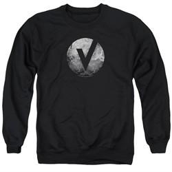 The Vamps Sweatshirt V Emblem Adult Black Sweat Shirt