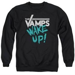 The Vamps Sweatshirt Wake Up Adult Black Sweat Shirt