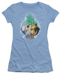 The Wizard Of Oz  Juniors Shirt Emerald City Carolina Blue T-Shirt