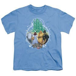 The Wizard Of Oz  Kids Shirt Emerald City Carolina Blue T-Shirt