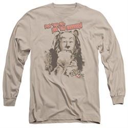 The Wizard Of Oz  Long Sleeve Shirt Put 'Em Up Cowardly Lion Sand Tee T-Shirt