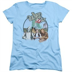 The Wizard Of Oz  Womens Shirt We're Off To See Wizard Light Blue T-Shirt
