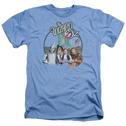 The Wizard Of Oz Shirt We're Off To See Wizard  Heather Light Blue T-Shirt