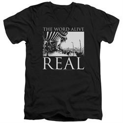 The Word Alive Slim Fit V-Neck Shirt Real Black T-Shirt