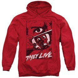 They Live  Hoodie Graphic Poster Red Sweatshirt Hoody