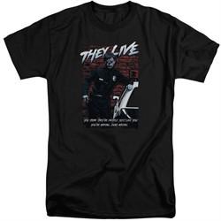 They Live Shirt Dead Wrong Tall Black T-Shirt