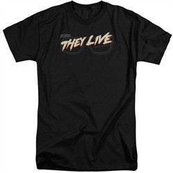 They Live Shirt Glasses Logo Tall Black T-Shirt