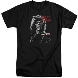 They Live Shirt Who are They? Tall Black T-Shirt