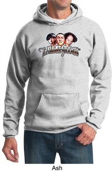 Three Stooges Hoodie Hooded Sweatshirt Funny Faces Adult Hoody