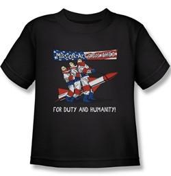 Three Stooges Kids Shirt Mission Accomplished Royal Tee T-Shirt
