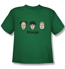 Three Stooges Kids Shirt Stooges Kelly Green Tee T-Shirt