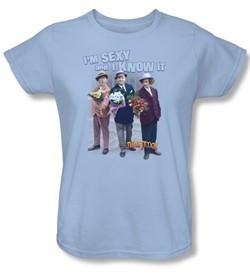 Three Stooges Ladies Shirt Sexy Light Blue Tee T-Shirt