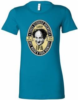 Three Stooges Tee Larry IPA Ladies Longer Length Shirt