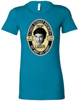 Three Stooges Tee Shemp Lager Ladies Longer Length Shirt