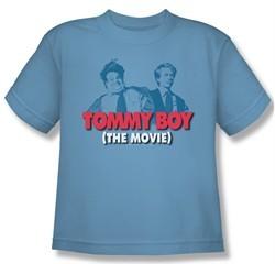 Tommy Boy Shirt Kids Movie Logo Carolina Blue Youth Tee T-Shirt