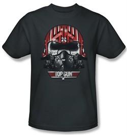 Top Gun Shirt Goose Helmet Adult Charcoal Tee T-Shirt