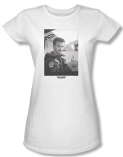 Top Gun Shirt Juniors My Wingman White Tee T-Shirt