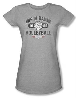 Top Gun Shirt Juniors Nas Miramar Volleyball Grey Tee T-Shirt