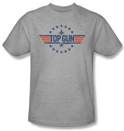 Top Gun Shirt Star Logo Adult Athletic Heather Tee T-Shirt