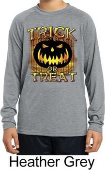 Trick or Treat Kids Dry Wicking Long Sleeve Shirt