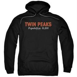 Twin Peaks Hoodie Population 2 Black Sweatshirt Hoody