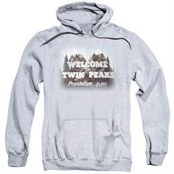 Twin Peaks Hoodie Welcome Athletic Heather Sweatshirt Hoody