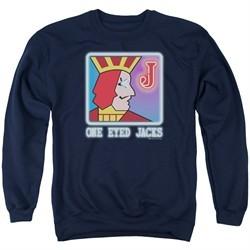 Twin Peaks Sweatshirt One Eyed Jacks Adult Navy Blue Sweat Shirt