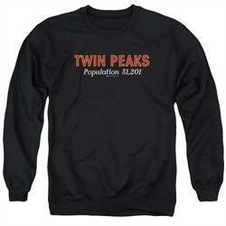 Twin Peaks Sweatshirt Population 2 Adult Black Sweat Shirt