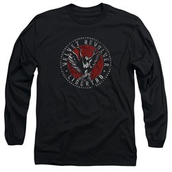 Velvet Revolver Shirt Circle Logo Long Sleeve Black Tee T-Shirt