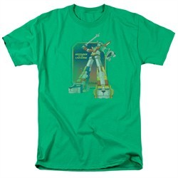 Voltron Shirt Distressed Defender Adult Kelly Green Tee T-Shirt