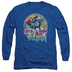 Voltron Shirt Let's Form Long Sleeve Royal Blue Tee T-Shirt