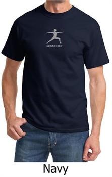 Mens Yoga T-shirt ? Warrior 2 Pose Meditation Adult Tee Shirt
