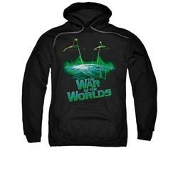 War Of The Worlds Hoodie Global Attack Black Sweatshirt Hoody