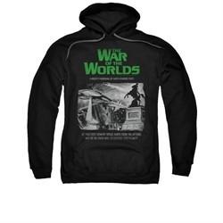 War Of The Worlds Hoodie Town Attack Black Sweatshirt Hoody