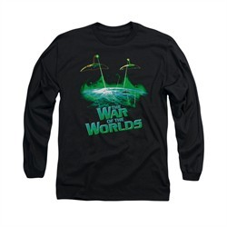 War Of The Worlds Shirt Global Attack Long Sleeve Black Tee T-Shirt