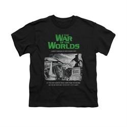 War Of The Worlds Shirt Kids Town Attack Black T-Shirt