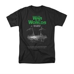 War Of The Worlds Shirt Poster Black T-Shirt
