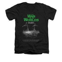 War Of The Worlds Shirt Slim Fit V-Neck Poster Black T-Shirt