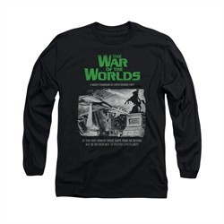 War Of The Worlds Shirt Town Attack Long Sleeve Black Tee T-Shirt