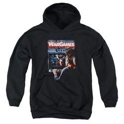 WarGames  Kids Hoodie Movie Poster Black Youth Hoody