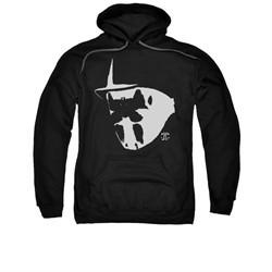 Watchmen Hoodie Mask And Symbol Black Sweatshirt Hoody